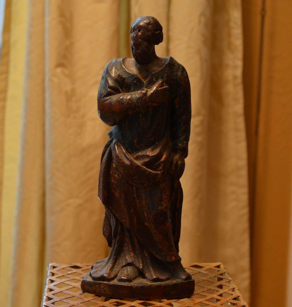 Renaissance (1475-1525) Wooden Sculpture of an Apostle