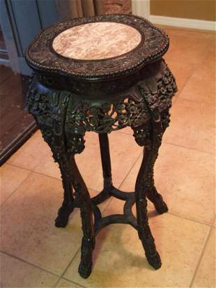 Chinese Huanghuali wood export fern stand