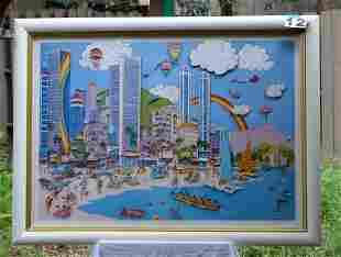 Waikiki 3D Lithograph by Richard Danskin