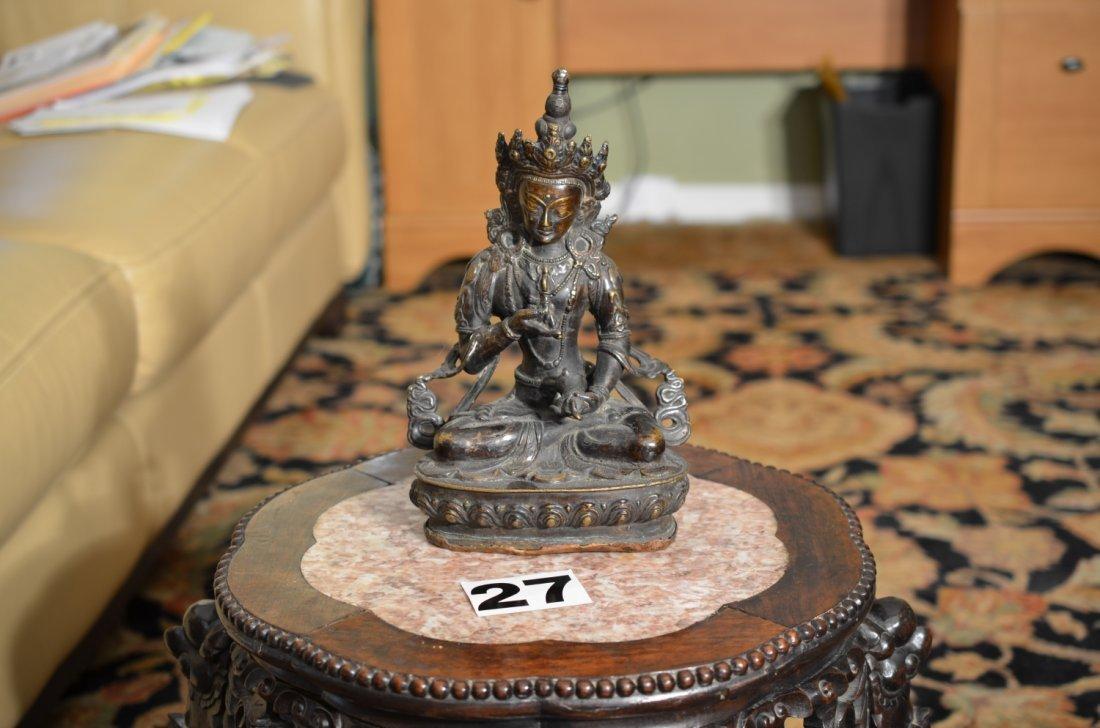 Old ANTIQUE BRONZE BUDDHA Statue