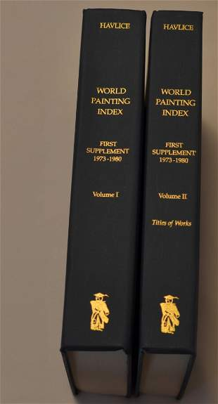 World Painting Index, First Supplement 1973-1980, by