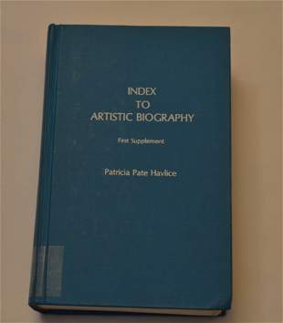 Index to Artistic Biography First Supplement, by