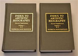 Index to Artistic Biography Second Supplement A-Z, by