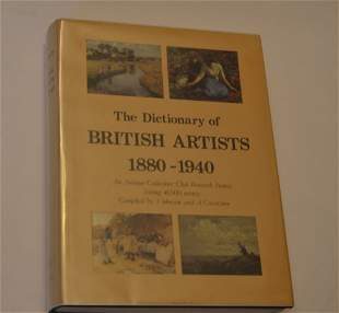 The Dictionary of British Artists 1880-1940, by J.