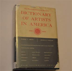 Dictionary of Artists in America 1564-1960, by Gross