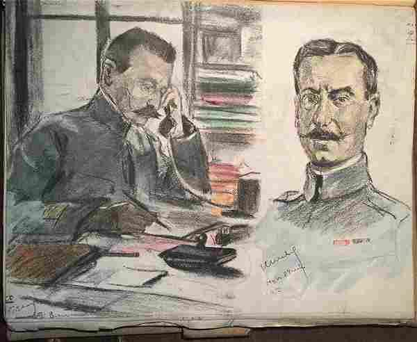 Rare WWI French Military Portrait Folio - Lucien Jonas