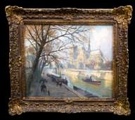 BEAUTIFUL Impressionist Pastel Paris, Notre Dame