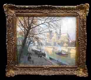 BEAUTIFUL Impressionist Pastel Paris, Notre Dame