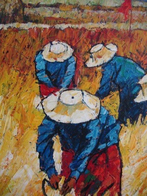 NOPARAT LIVISIDDHI Orig ART Painting FIELD HARVESTERS - 4