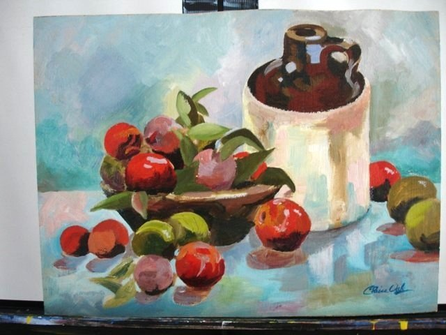 STILL LIFE WITH A JUG Oil Painting by CLAIRE OAK