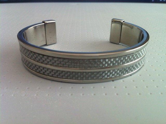 MENS Stainless Steel BANGLE BRACELET - NEW