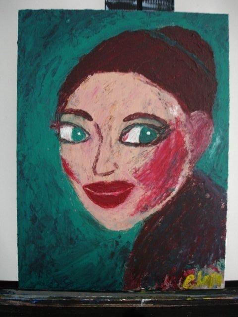 BLUSH Original Acrylic Painting by Ela Jamosmos
