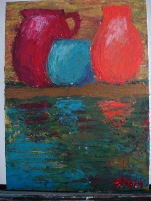 RELECTIONS OF THREE Original Acrylic by Ela Jamosmos