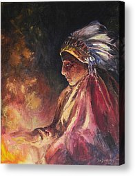FIREHANDLER Original Oil Painting by Jun Jamosmos
