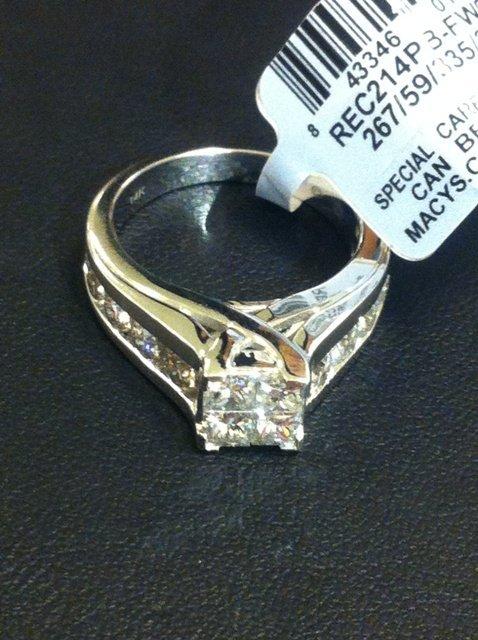 LADIES DIAMOND Wedding RING 2 CT 14K WG - size 7 - NEW