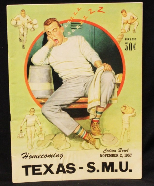1957 Texas vs SMU Original Football Program