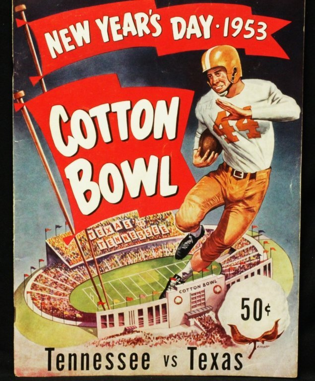 1953 Original Football Program Tennessee vs Texas