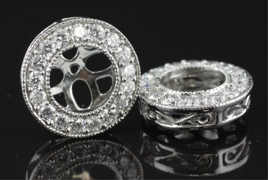 Pair of .50ct tw Diamond Earring Jackets