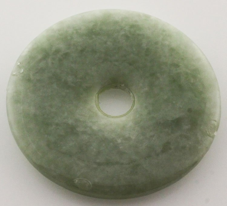 Small Green Jade Circle Hoop Round Pendant