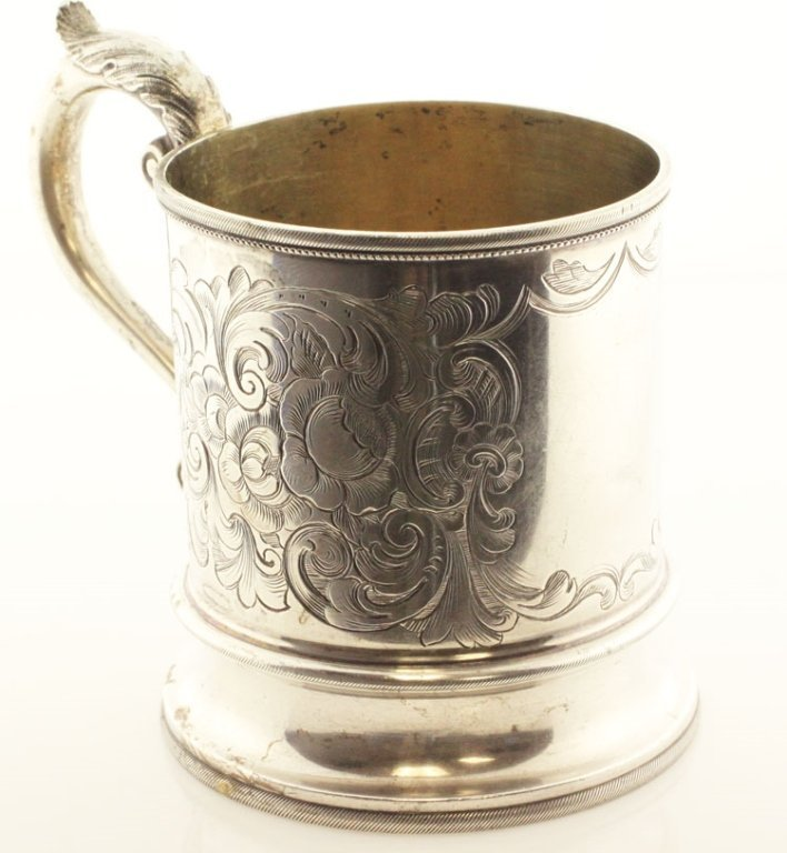 Eoff & Shepard Coin Silver and Silver Gilt Mug