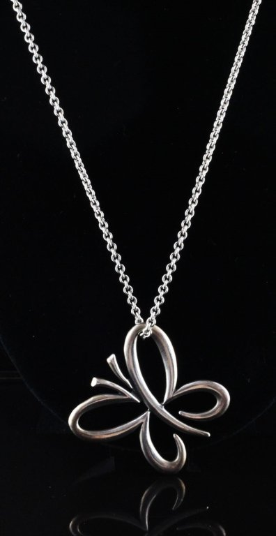 James Avery Floating Butterfly Pendant and Chain