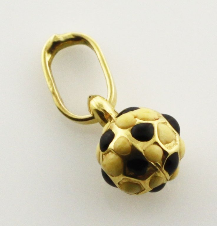 Jewelry-Small Soccer Ball Charm in Yellow Gold
