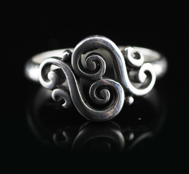 "James Avery ""Spanish Swirl"" Sterling Ring"