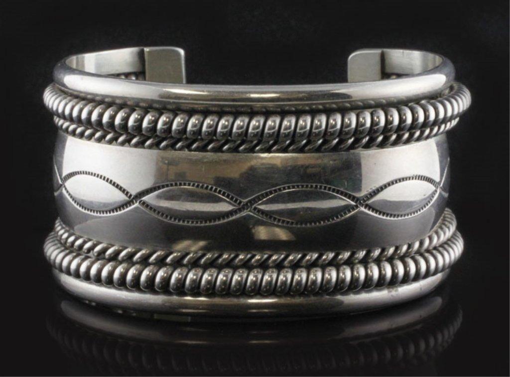 Native American Cuff Bracelet in Sterling