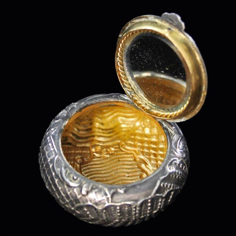 Round Silver Metal Box