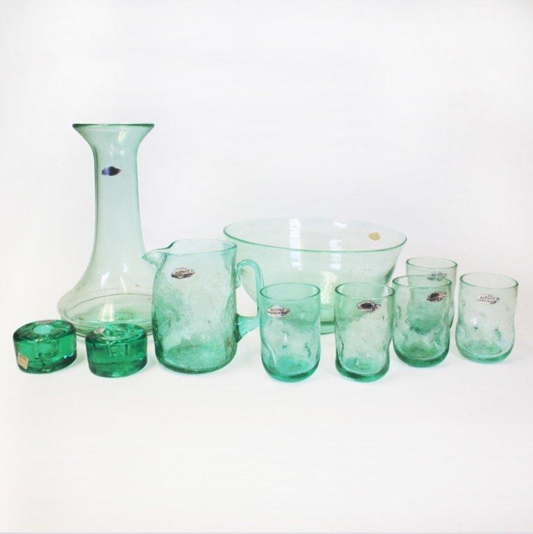 Blenko Handcraft Glassware Set