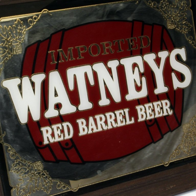 Imported Watneys Red Barrel Beer Mirror Bar Sign - 2
