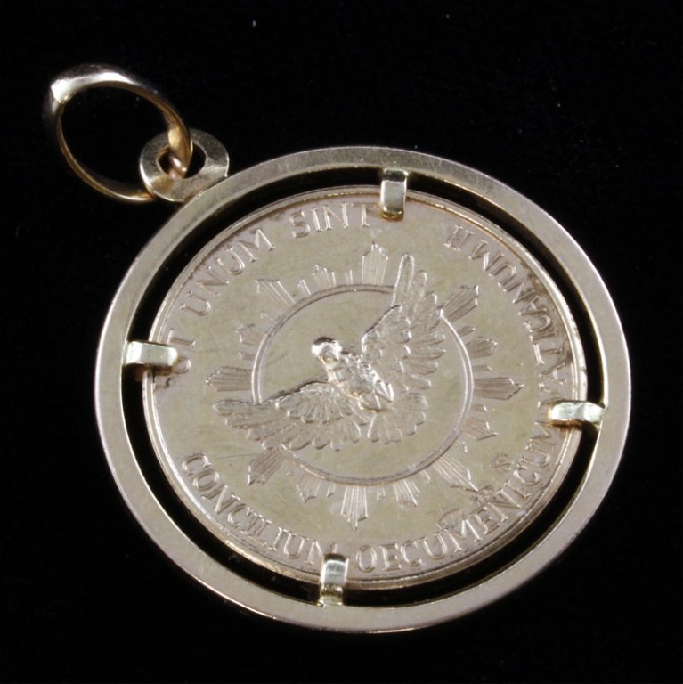 Joannes XXIII Pont Max Gold Coin Pendant - 2