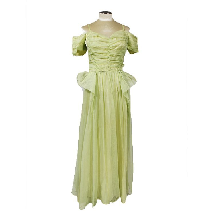 1940s Green Evening Gown