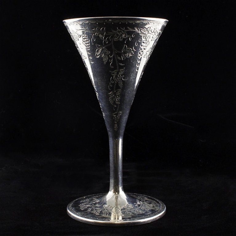 1866 Coin Silver Cordial or Wineglass