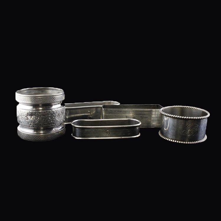 5 Sterling Napkin Rings