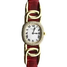 Ladies Patek Philippe Golden Ellipse Diamond Watch