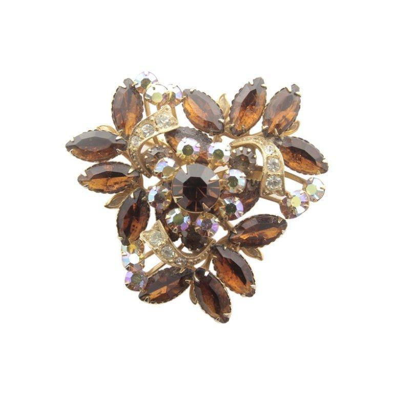Vintage Gemstone Pin Brooch
