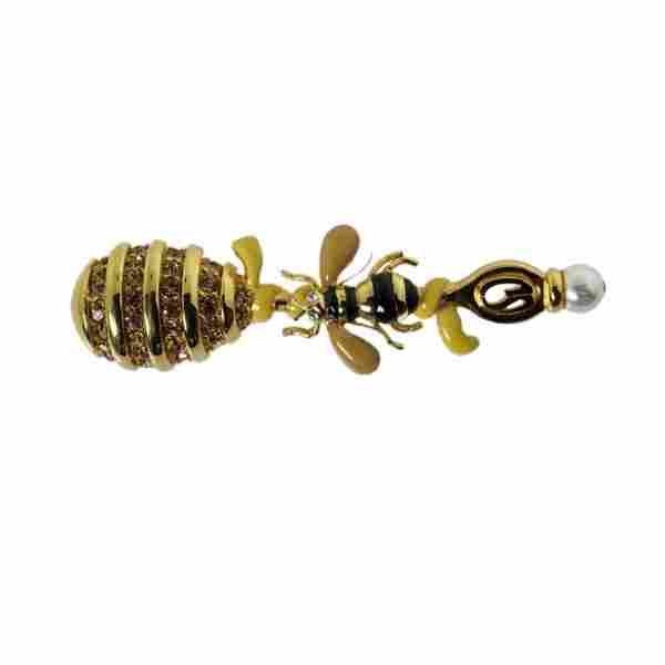 Bee & Honey Comb Brooch