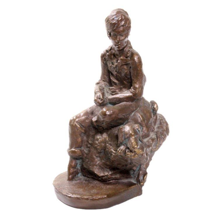 Lorenzo Bronze Colored Clay Scuplture