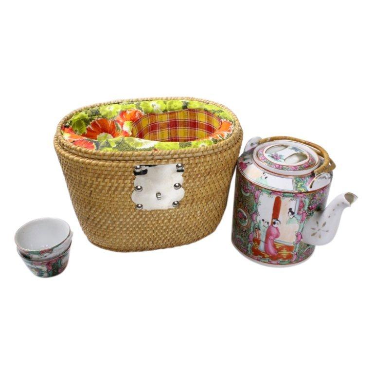 Chinese Tea Picnic Basket
