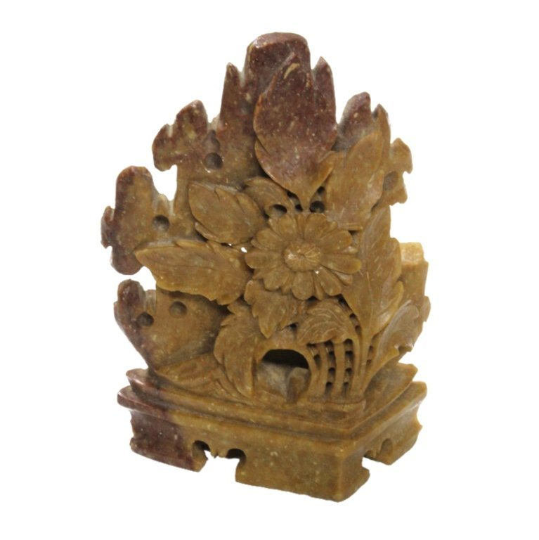 Floral Carved Soap Stone