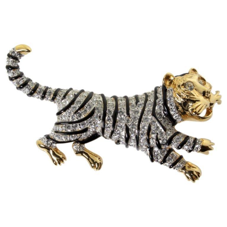 Vintage Landau Costume Tiger Pin Brooch