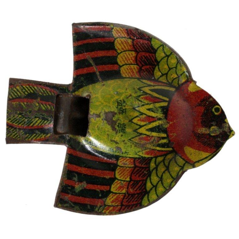 Vintage Japan Tin Bird Whistle