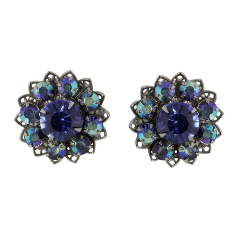 Iridescent Clip Style Earrings