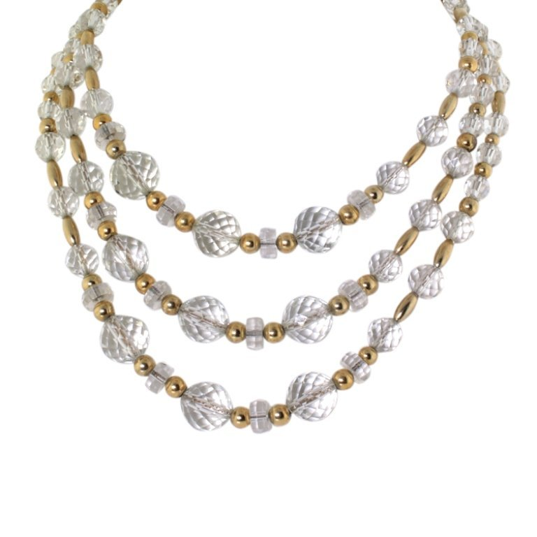 Napier Crystal Bead 1960s Necklace
