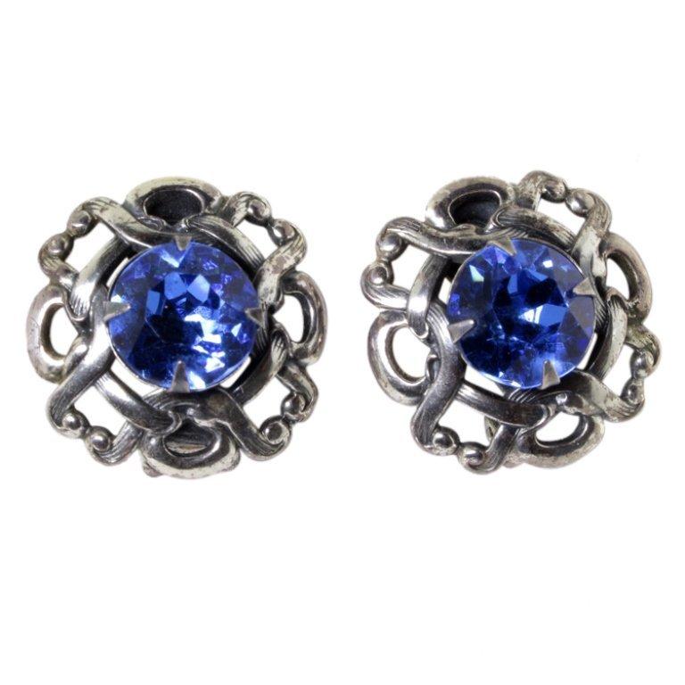 Napier 1950s Vintage Sterling Silver Earrings