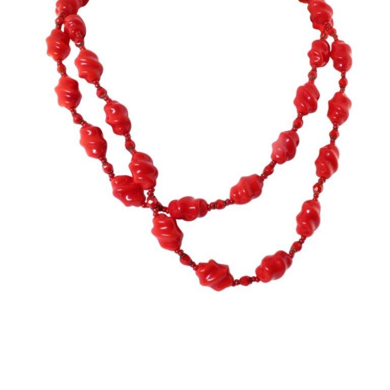 Miriam Haskell Glass Bead Sautoir Necklace