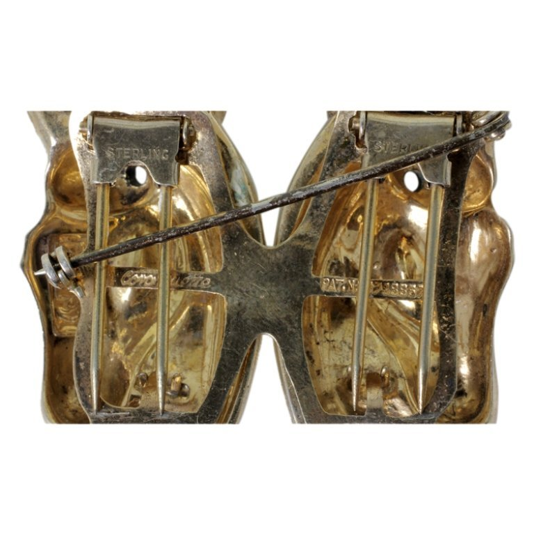 Vintage Sterling Coro Duette Pin Brooch - 3