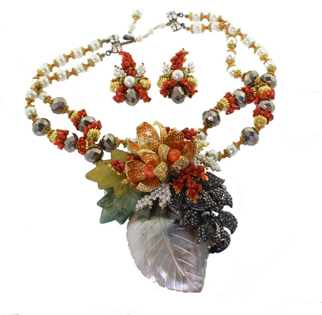 Lawrence Vrba Necklace and Earrings Set