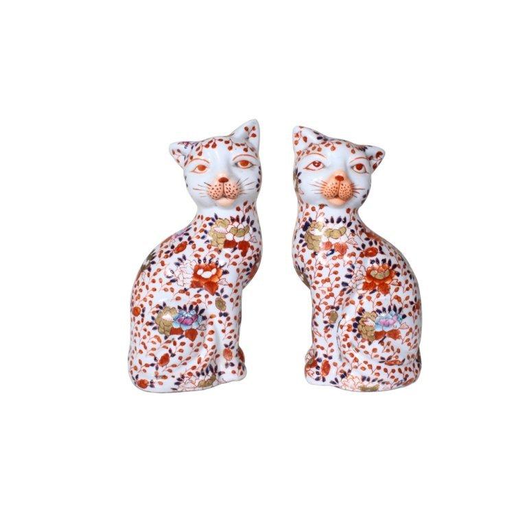 Pair of Asian Porcelain Cats
